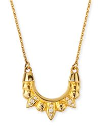 Pamela Love | Metallic Gold-plated Mini Spike Necklace | Lyst