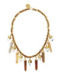 Ashley Pittman | Metallic Yellow Agate & Crystal Prism Bib Necklace | Lyst