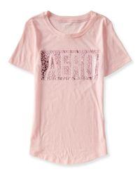 Aéropostale | Pink Aero Floral Foil Graphic T | Lyst