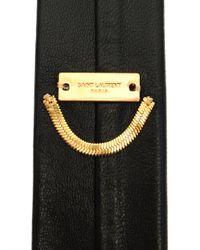 Saint Laurent | Black Skinny Leather Tie for Men | Lyst