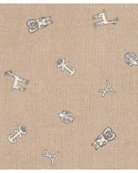Richard James - Brown Tan Inca Motif Cashmere And Silk-blend Scarf - Lyst