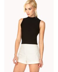 Forever 21 - Natural Posh High-waisted Shorts - Lyst