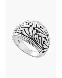 Lagos | Metallic 'flora' Etched Ring | Lyst