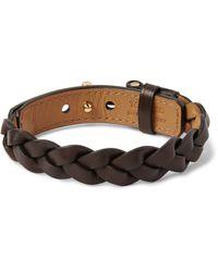 Tom Ford - Brown Woven Leather Bracelet for Men - Lyst
