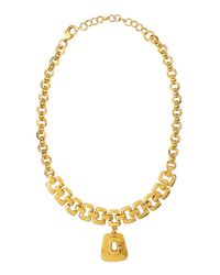 Jose & Maria Barrera | Metallic Hammered 24k Gold-plated Necklace | Lyst