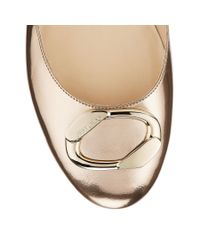 Jimmy Choo - Garmeen Metallic Leather Ballet Flats - Lyst