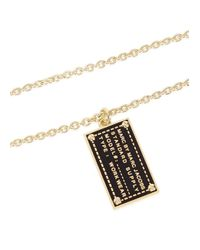 Marc By Marc Jacobs - Black Enamel Chain Necklace - Lyst