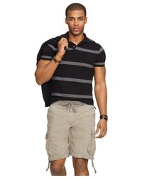 Polo Ralph Lauren   Gray Classic-fit Striped Mesh Polo Shirt for Men   Lyst