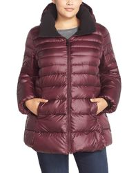 Marc New York | Purple 'Eva' Sweater Weight Down Jacket | Lyst
