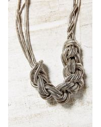 Urban Outfitters | Metallic Museum Walls Knotted Necklace | Lyst