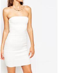 Sistaglam - White Kim Bandeau Bodycon Dress - Lyst