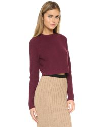 Ronny Kobo | Purple Antonina Crop Sweater | Lyst