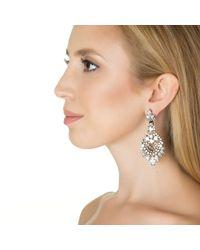Elizabeth Cole | Metallic Navette And Oval Chandelier Earrings | Lyst