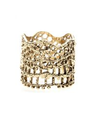 Aurelie Bidermann | Metallic Vintage Lace Gold-Plated Ring | Lyst