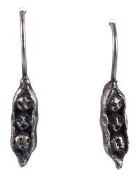 Momocreatura - Black 'Sweetpea Brothers' Earrings - Lyst