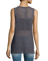 Current/Elliott - Gray The Muscle Tee - Lyst