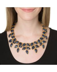 Lele Sadoughi | Palm Leaf Necklace, Atlantic Blue | Lyst