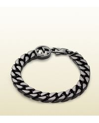 Gucci | Metallic Bracelet With Interlocking G Detail for Men | Lyst