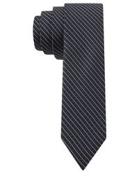 Calvin Klein | Black Reflection Grid Skinny Tie for Men | Lyst