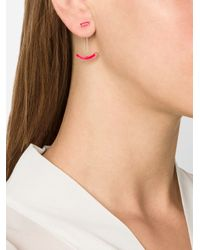 Gemma Redux | Red Curve Earrings | Lyst