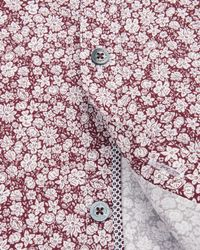 Ted Baker | Red Debonair Floral Print Shirt for Men | Lyst