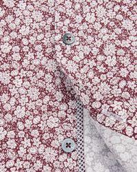Ted Baker - Red Debonair Floral Print Shirt for Men - Lyst