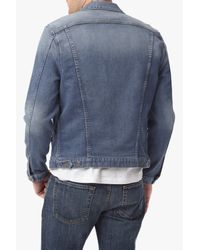 7 For All Mankind - Blue Trucker Jacket In Renegade for Men - Lyst