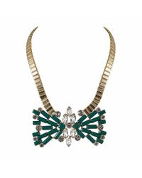 Ziba | Metallic Agneta Statement Necklace | Lyst