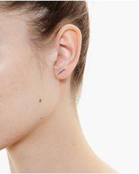 Asherali Knopfer | Metallic 18K Gold Simple Bar Earring | Lyst