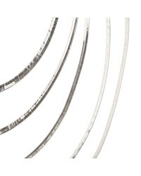 River Island - Metallic Silver Tone Slinky Layered Necklace - Lyst