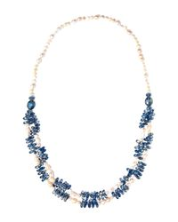 Gardenia | Blue Freshwater Pearl Necklace | Lyst
