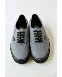 3b4fa7450ac Lyst - Vans Authentic Black Sole Men S Sneaker in Gray for Men