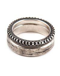 Werkstatt:münchen | Metallic Punched Ring Set for Men | Lyst