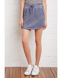 Forever 21 - Blue Heathered Drawstring Skirt - Lyst