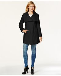 Jessica Simpson | Black Asymmetrical Walker Coat | Lyst