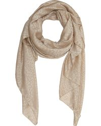 Saint Laurent - Natural Leopardpattern Scarf - Lyst