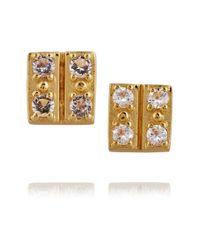 Elizabeth and James - Metallic Edo Gold-plated Quartz Earrings - Lyst