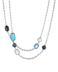 David Yurman | Metallic Châtelaine® Necklace With Turquoise, Black Orchid & Blue Sapphires | Lyst