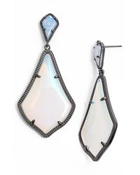 Kendra Scott - Blue 'mystic Bazaar - Alexis' Drop Earrings - Gunmetal Iridescent Opalite - Lyst