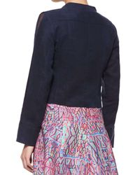 Nanette Lepore - Blue Angle Falls Structured Lace-up Jacket - Lyst
