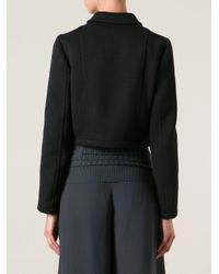 M Missoni - Black Cropped Jacket - Lyst