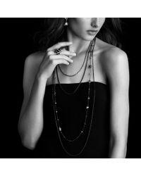 David Yurman | Cable Wrap Ring with Hampton Blue Topaz and Diamonds | Lyst