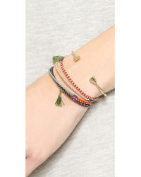 Shashi - Multicolor Jane Wire Wrap Bracelet - Pyrite - Lyst