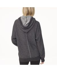 James Perse | Gray Cashmere Hooded Sweatshirt | Lyst