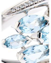 Shaun Leane - Blue Diamond, Aquamarine & White-Gold Ring - Lyst