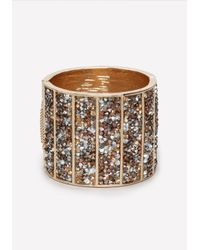 Bebe | Metallic Crushed Crystal Cuff | Lyst