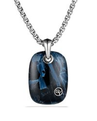 David Yurman - Blue Exotic Stone Tablet with Pietersite On Chain for Men - Lyst