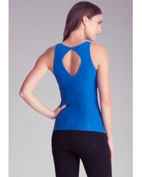 Bebe - Blue Cinched Backout Cami - Lyst