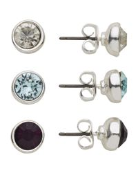 John Lewis | Metallic Triple Round Stud Earrings Set | Lyst