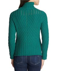 1.STATE | Green Funnel Neck Sweater | Lyst